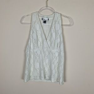 INC | Cream Lace Sleeveless Blouse Size Large